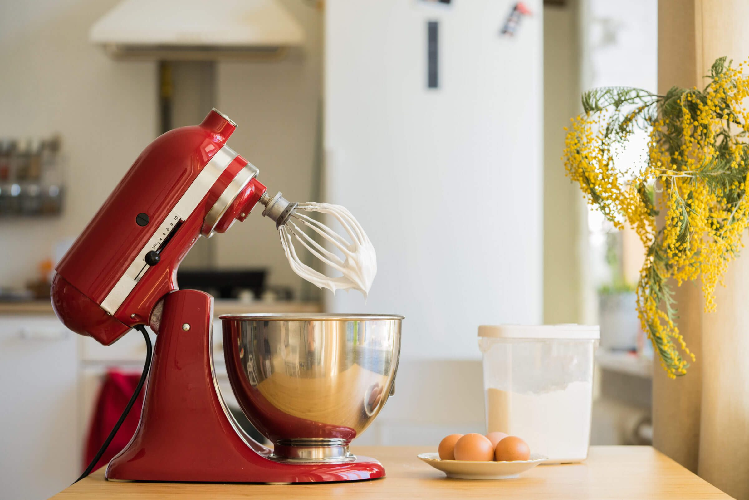 Stand up mixer with attachment