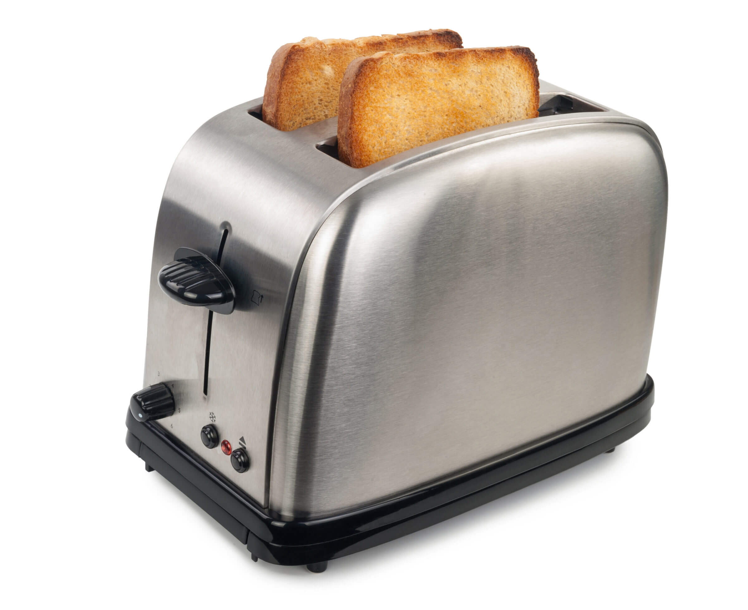 Toaster with toast popping up