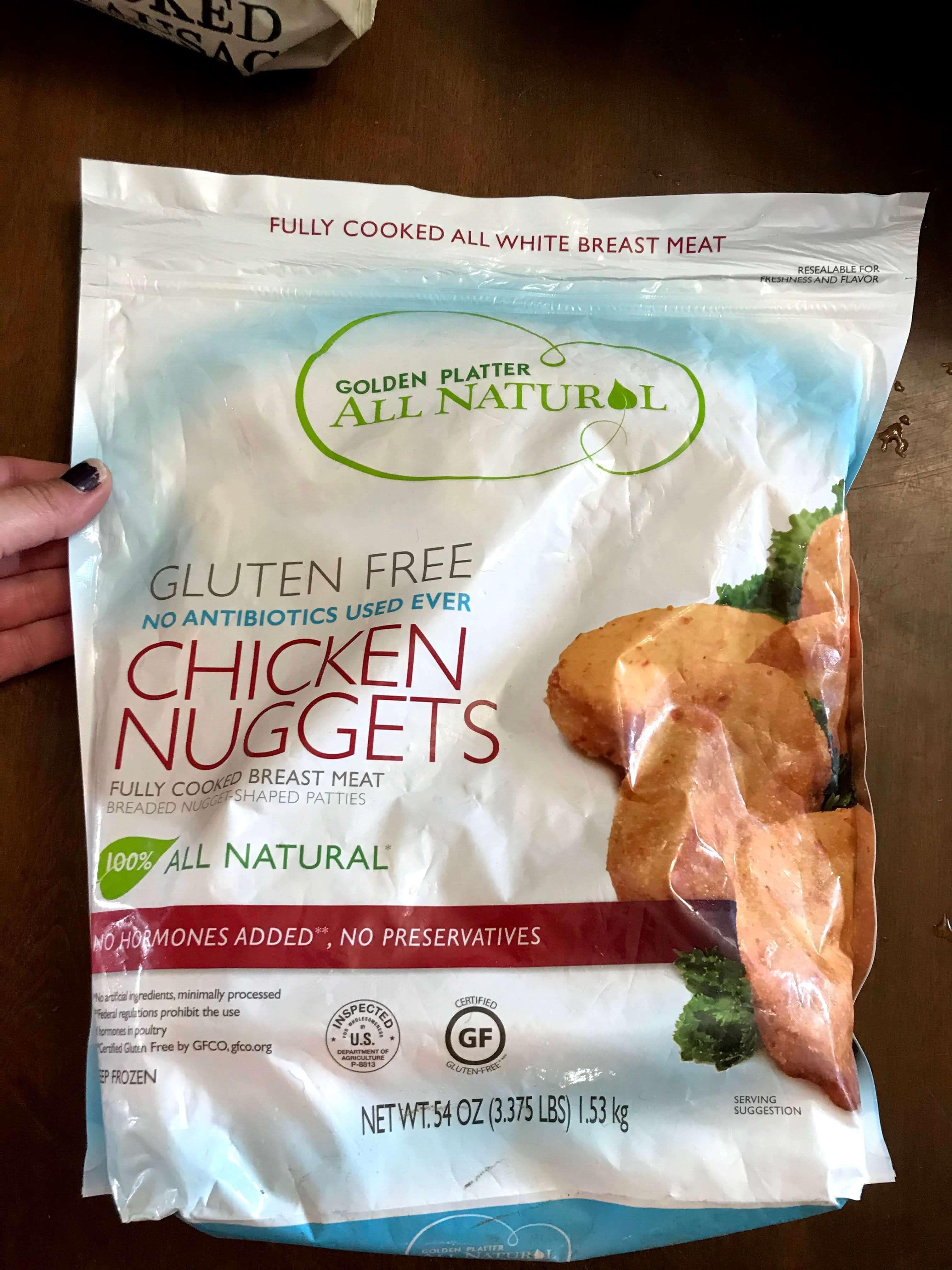 Golden Platter gluten free chicken nuggets