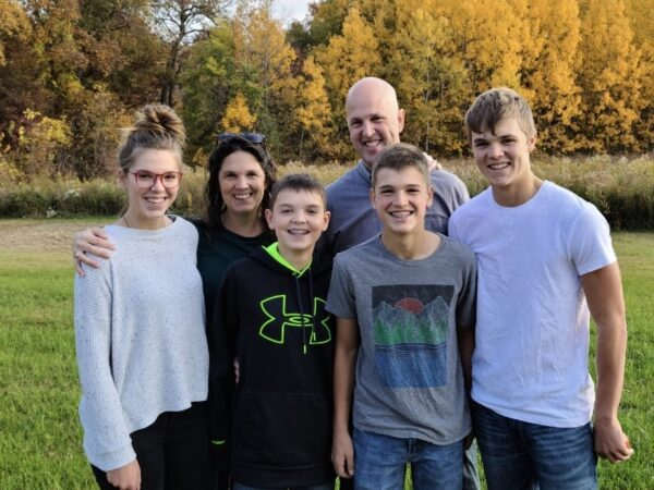 Family photo outside on beautiful fall day October 2020