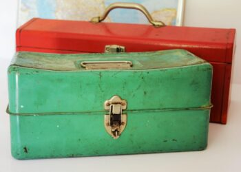 Green and Red Tool Box